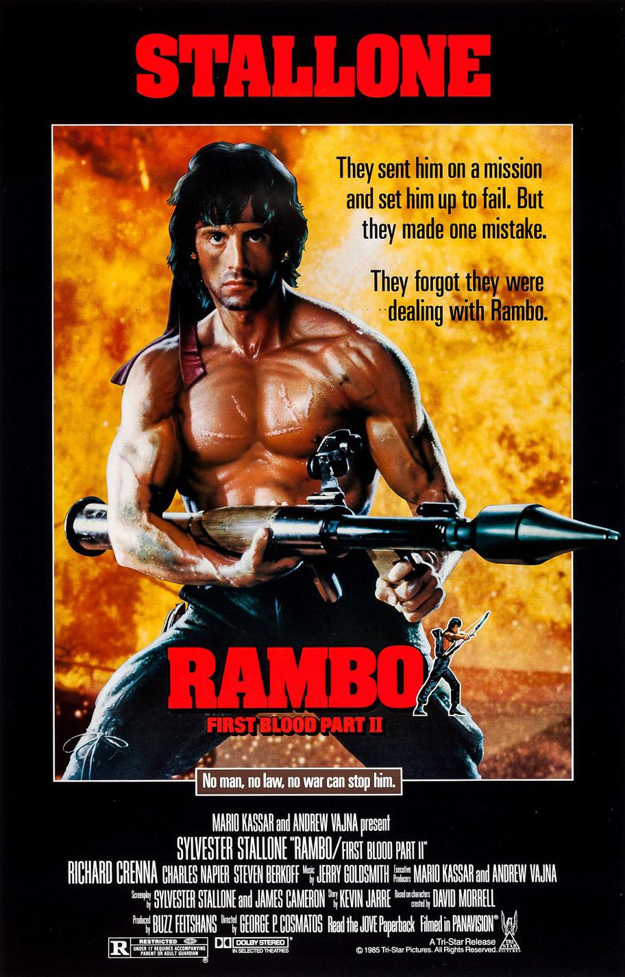 ดูหนังแอคชั่น แรมโบ้ 2 4K หนังภาคต่อสนุกๆ
